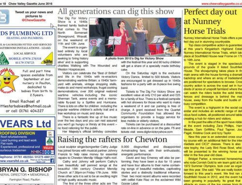 Chew Valley Gazette Article